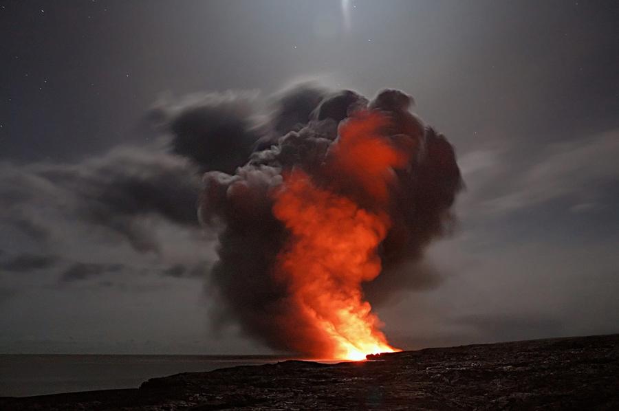 hawaii, Kilauea, Volcano, night, lava